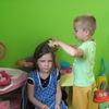 W kąciku fryzjerskim