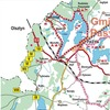 Mapa szlaku rowerowego