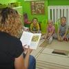 Czytanie bajki przez mamę Kuby